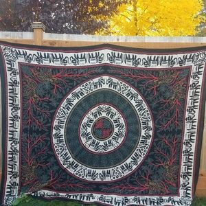 VINTAGE Hand woven and dyed tapestry.